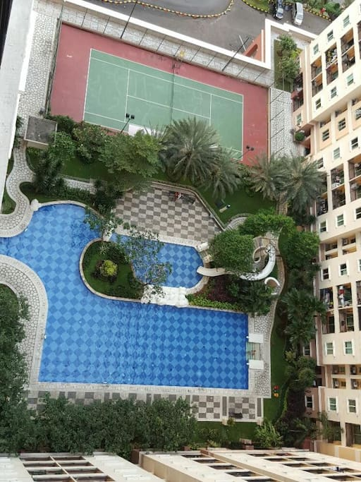 Another pool next to tennis court