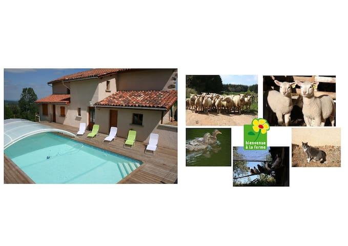 """Gite """"Les châtaigniers"""" nature Auvergne-Rhône-Alpe"""