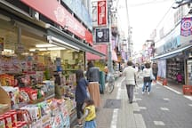 Classic- Shopping distric. Japanese Snack shop  from my place, it takes 4 minutes to walk