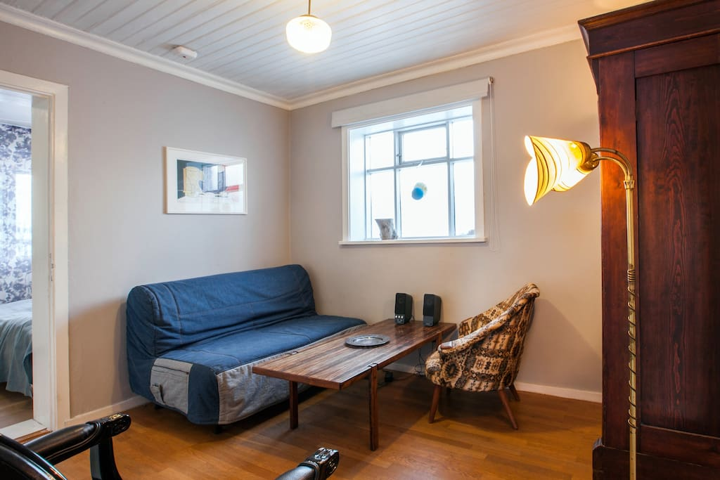 Living room with sleeper sofa (140 cm)