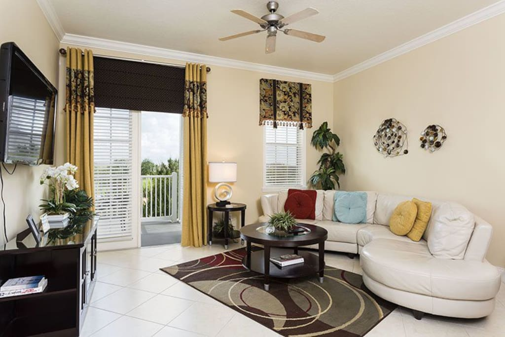 Stretch out and relax in the large comfortable living area