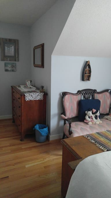 Antique Settee and dresser