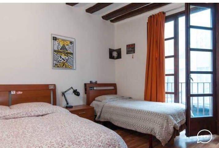 Nice double room for 3 in el Born Jaume 1