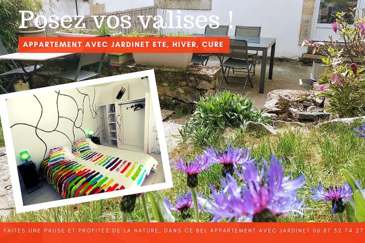 ♡ Appart  indépendant sur jardinet - Draps inclus
