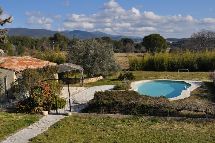 Chambre avec piscine face au château de Lourmarin