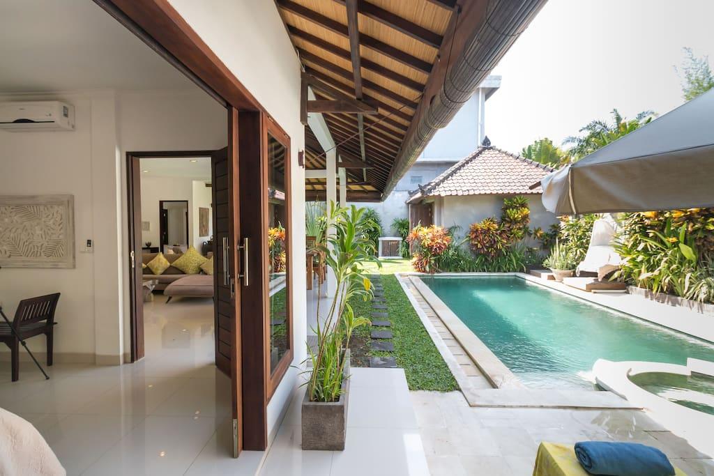 Villa & pool view