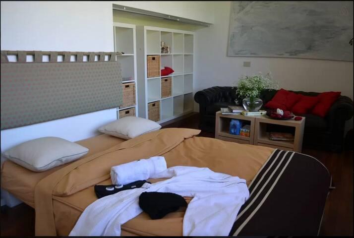 4-6 pers in 2 ruime kamers met stevig ontbijt - Kortrijk - House