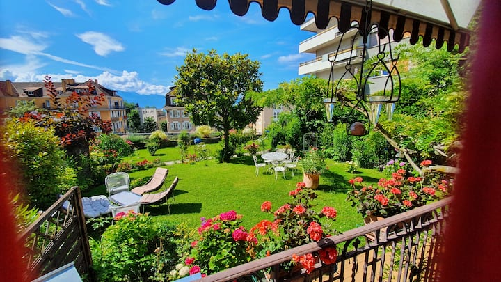 Bel appartement jardin ville