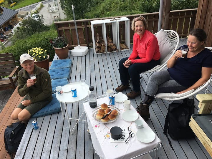 Beer and buns on the terrace