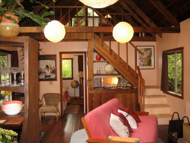 Ames House, a one bedroom cottage in the redwoods