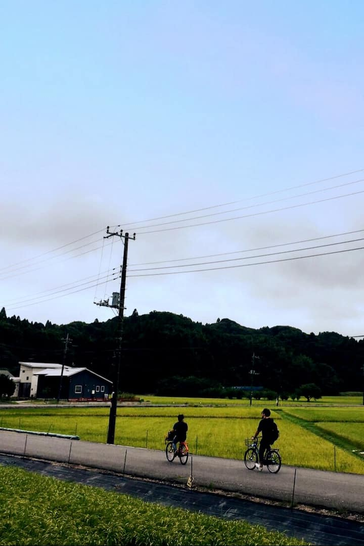 Cycling on the real rural area