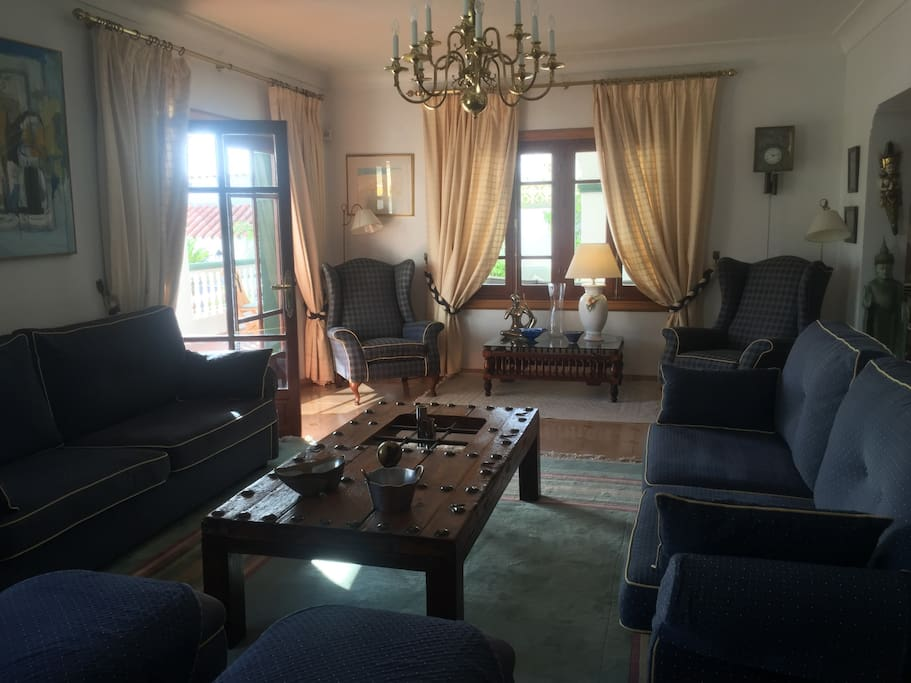 The Spacious and delightfully decorated living room