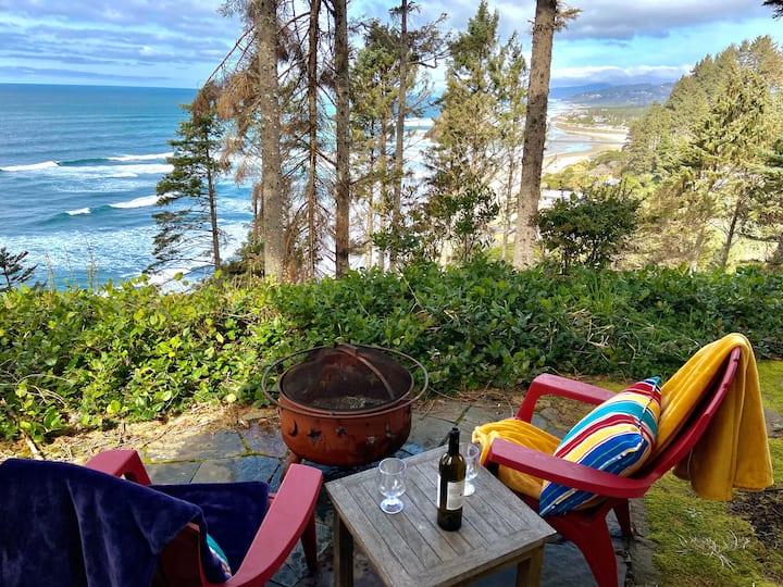 Suite w Expansive Ocean Views & Patio w a fire pit