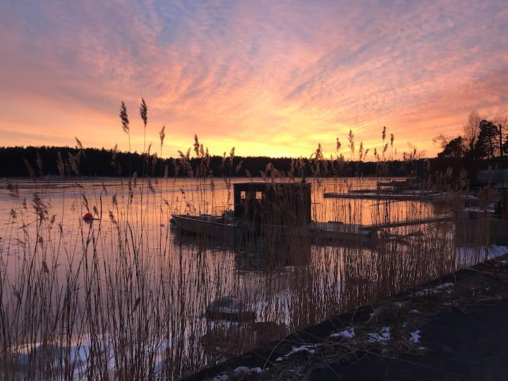 FRIGGA m oemotståndlig havsutsikt mot Stockholm