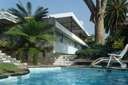 Architektenvilla mit Meeresblick, Garten und pool - Los Realejos
