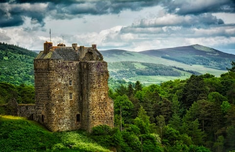 Ancient Castle above the River Tweed