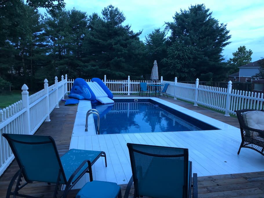 Pool deck area open all hours