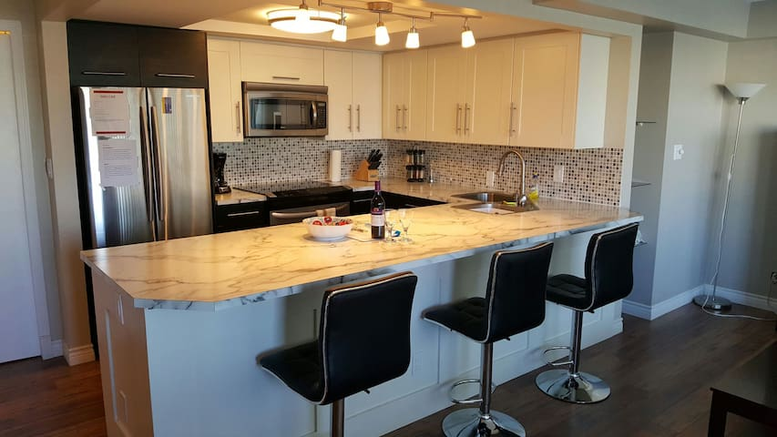 CHIC BKFST BAR, HUGE KITCHEN,PATIO,WALK EVERYWHERE - Calgary - Apartment