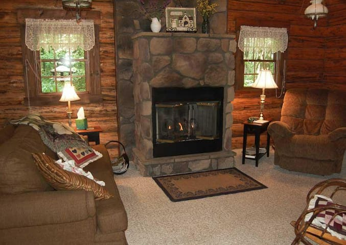 Comfortable living room with fireplace