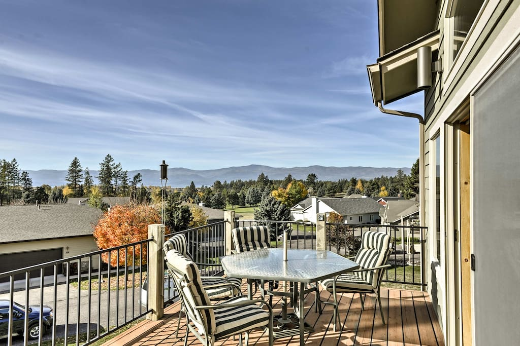 Spend your downtime relaxing on the private deck.