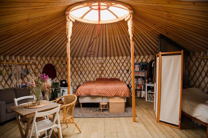 Slow yurt living