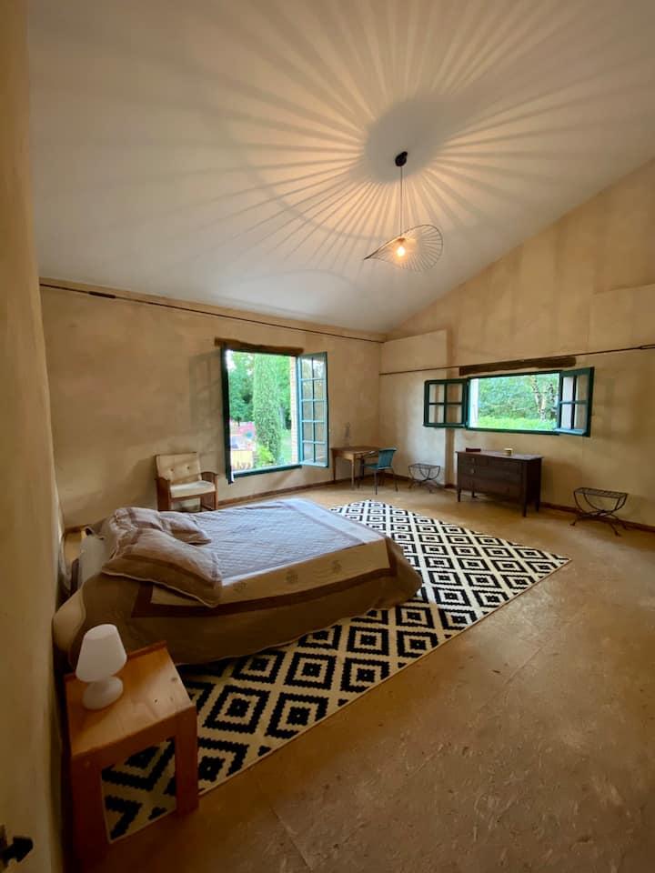 Loue chambre dans maison indépendante avec piscine