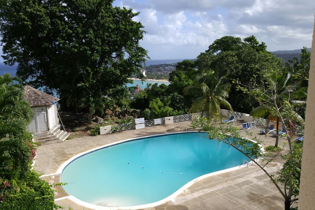 View from condo of pool