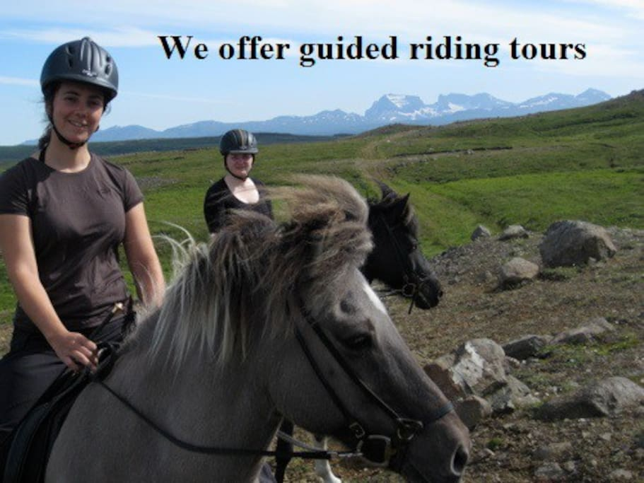 We offer guided riding tours!