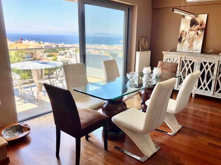 Idyllic maisonette in Voula with a panoramic view