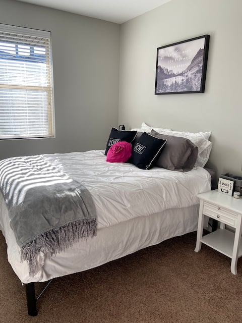 Queen Bed with Private Bath in South Reno Apt.