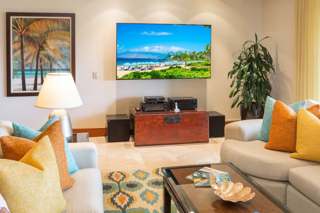 Great Room Upgraded with Large Flat Screen TV