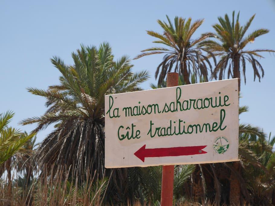 Pancarte La maison saharaouie