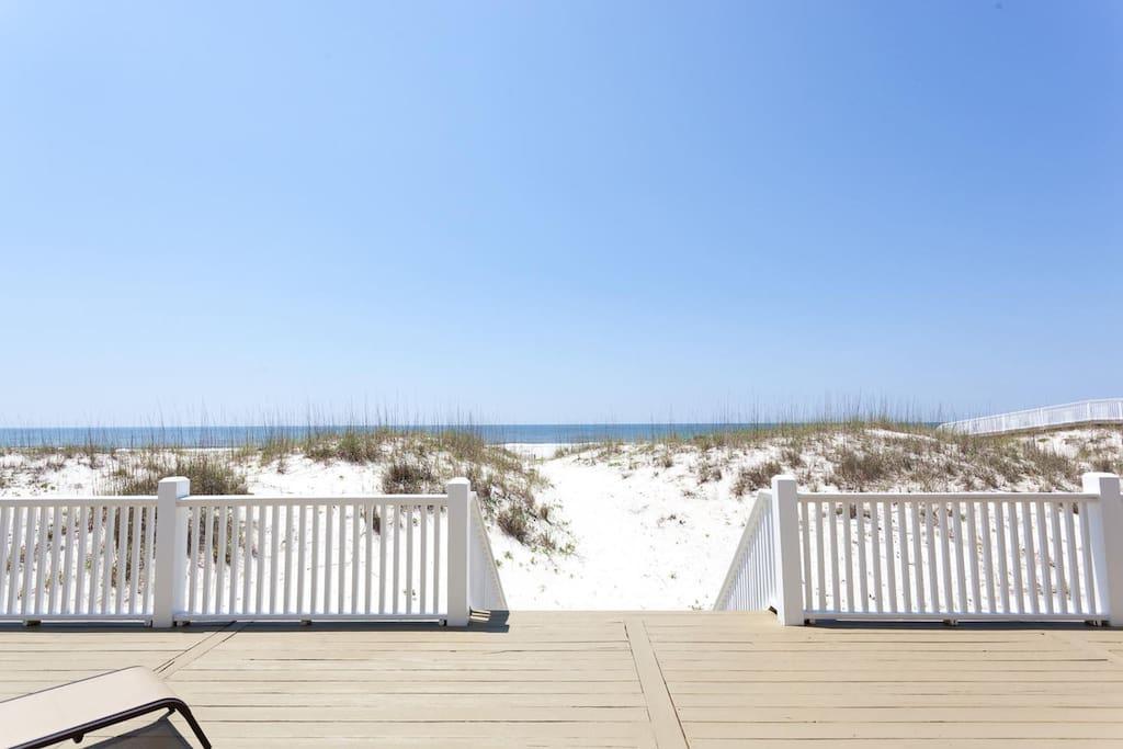 Breathtaking beach view