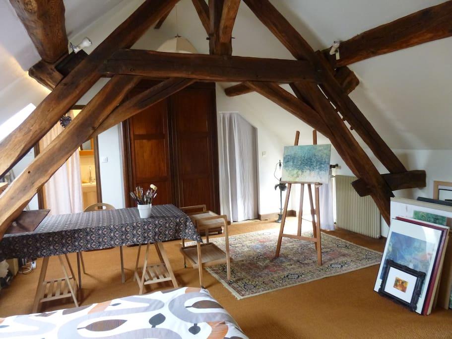 Deux chambres communicantes cuisine partag e bed for Chambre communicante