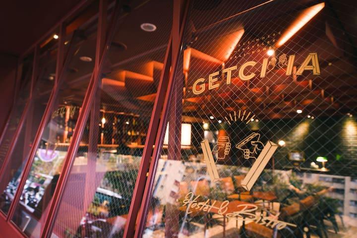 GetCha Hostel&Bistro[ 結合餐酒館及住宿的複合型旅店 ]-8床房 (限女性) B