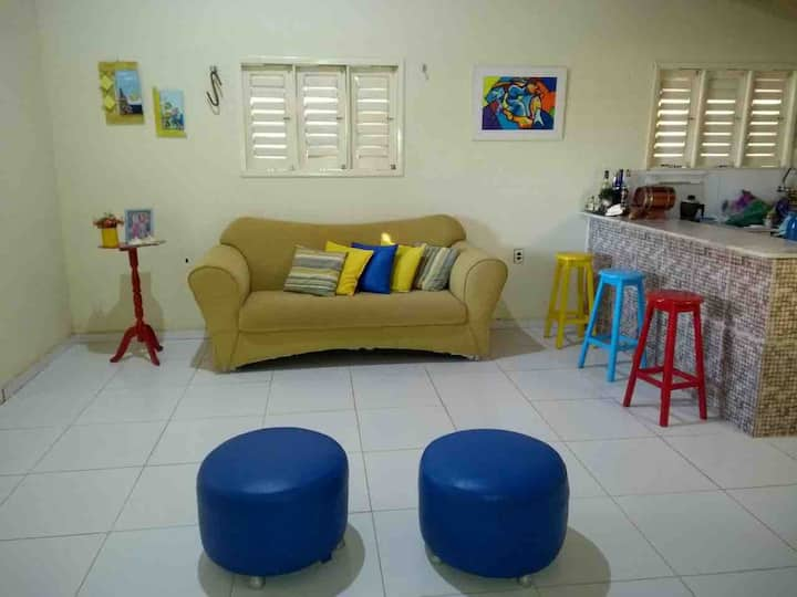 Linda casa funcional-Praia das Emanuelas, Tibau/RN