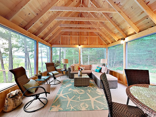 Lounge or enjoy dinner in the screened in porch