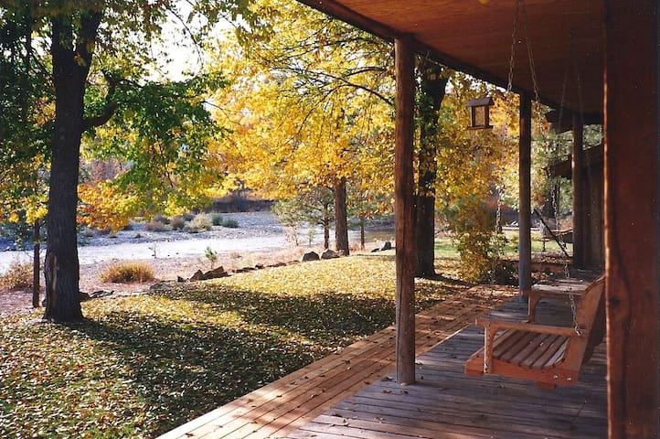 Enjoy the river front view from the back deck