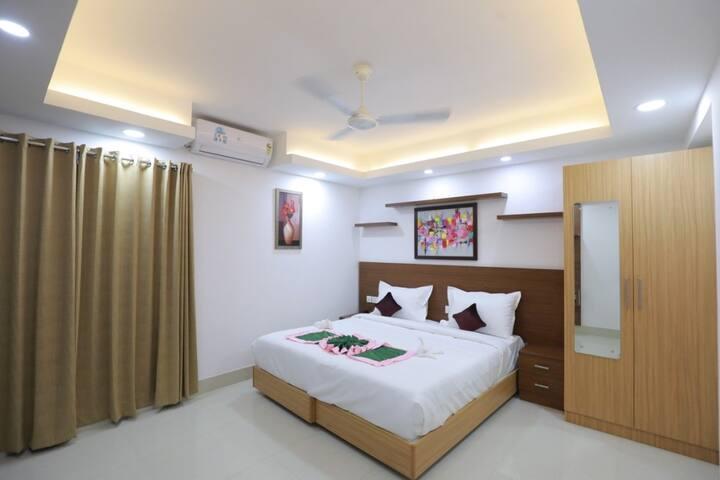 Premium Room in Swades Myhome Dharmalayam Road Nr Ayurveda College Manjalikulam Thiruvananthapuram Kerala