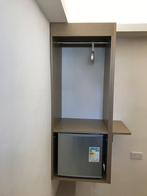 Fridge and hangers for your clothes