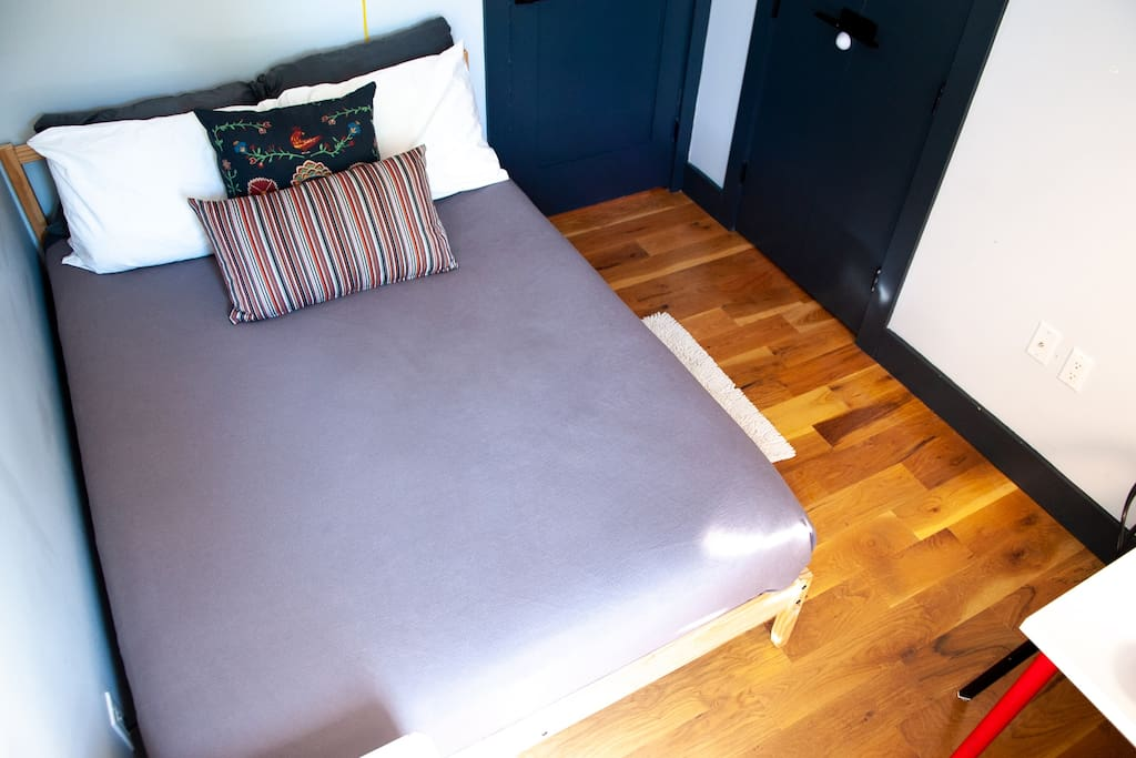 Super comfortable bed and lots of natural sunlight in your private bedroom