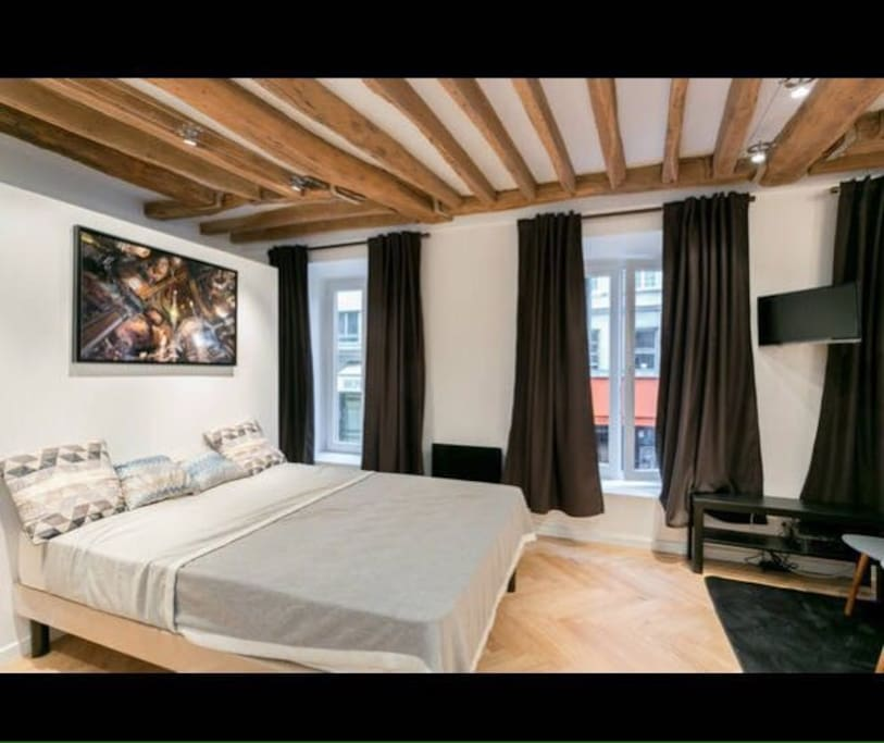 chambre spacieuse  tres lumineuse  design et cocooning