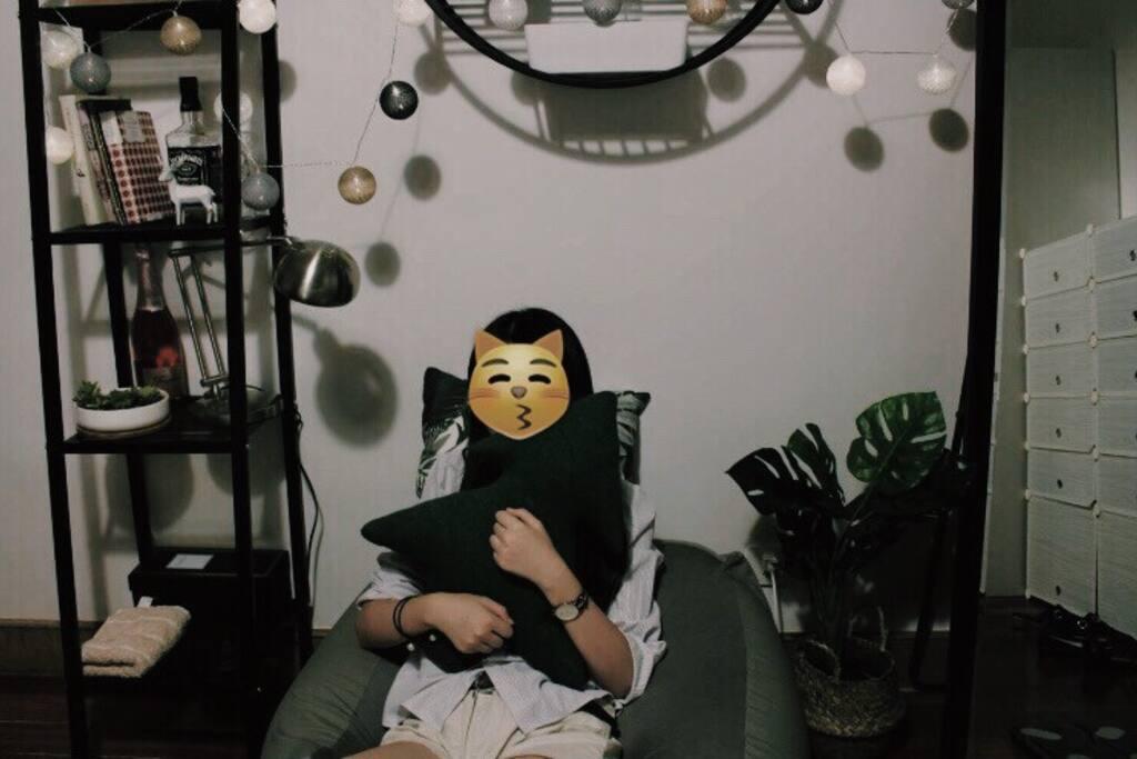 置物架,懒人沙发,装饰彩灯,全身镜