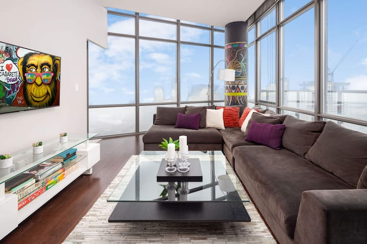 RATE DROP! - Clean and Sanitized - Eclectic Two-Bedroom Condo (Sky-High Views)