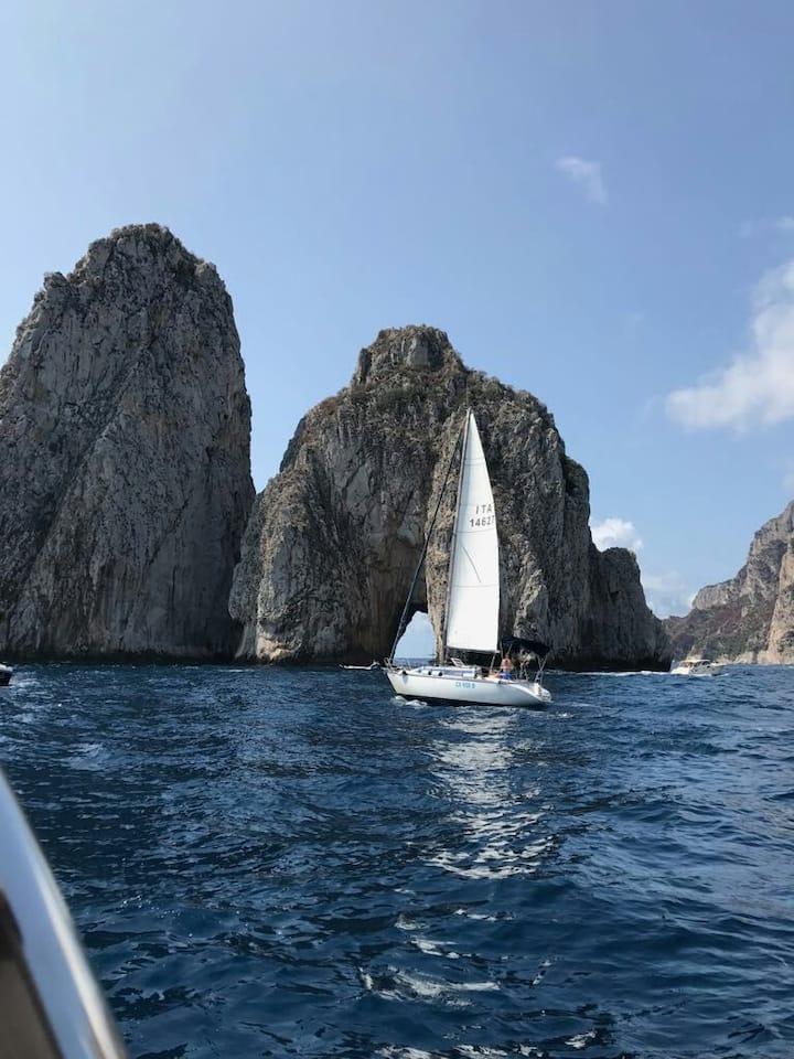 Daily tour on sailing boat (33feet) Capri/Positano