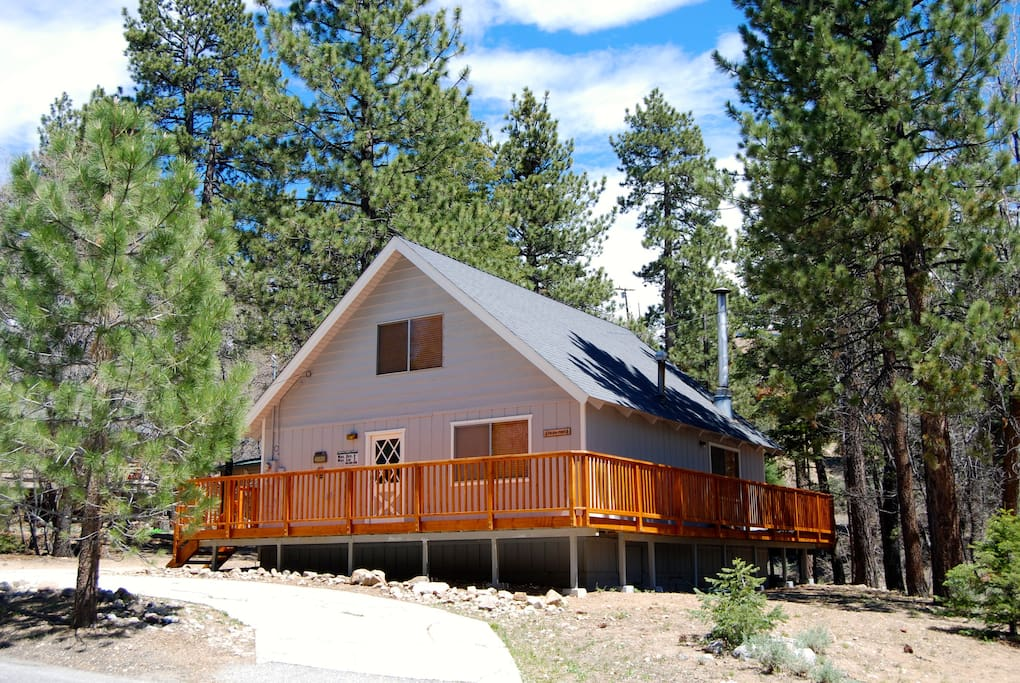 rental homeaway big bear close property cabins to vacation slopes the yard and large wifi cabin charming front