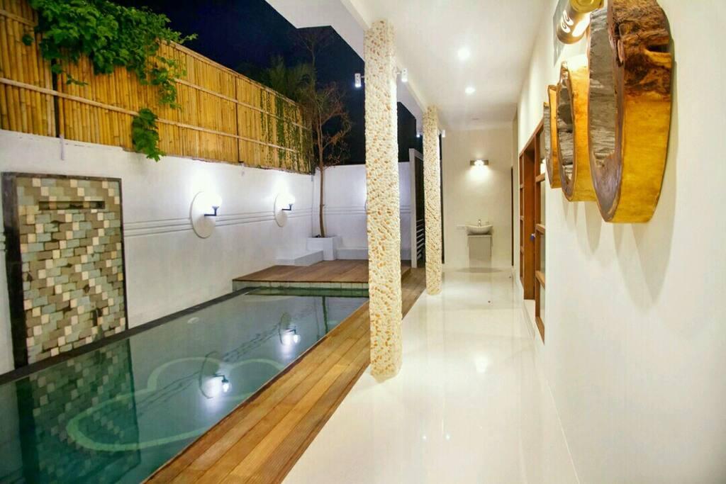 Bedroom facing the pool