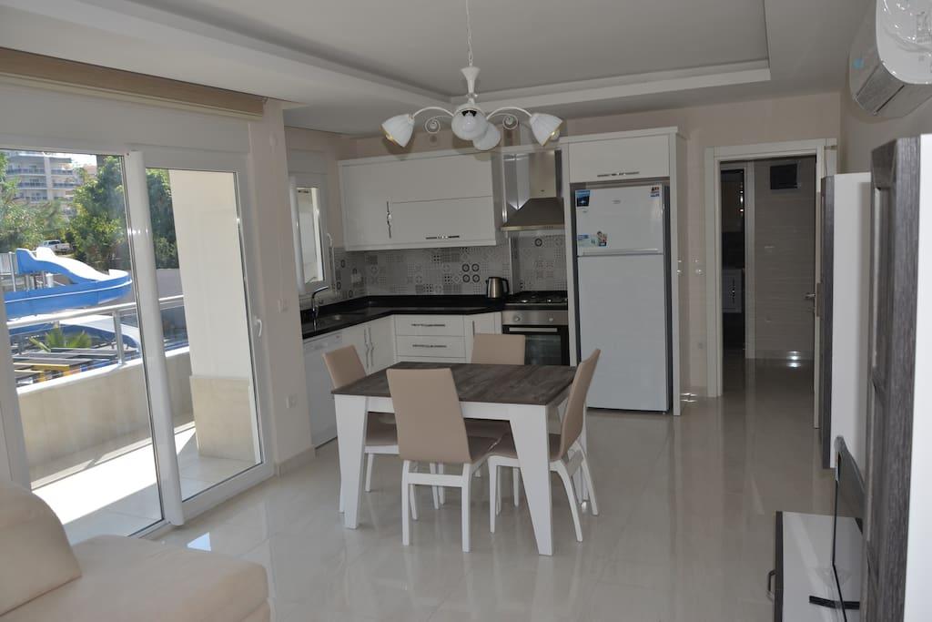 Living room&kitchen/Зал и кухня