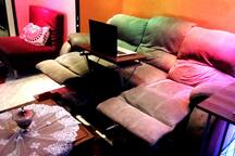 * 3 Set Couch  * Dynamic transform to bed for more comfortable nights while watching  3D Movies or while working with your laptop