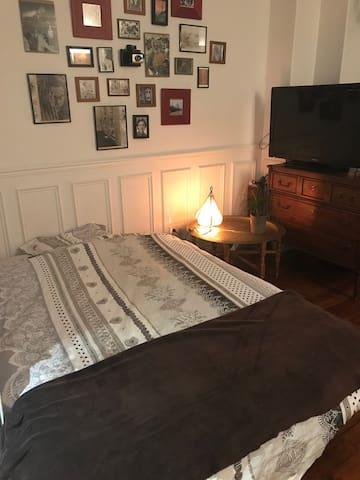 Grand clic-clac dans appartement calme & lumineux